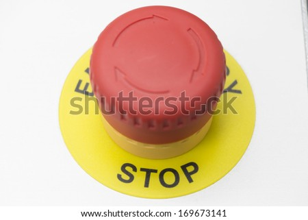 Red stop button - stock photo