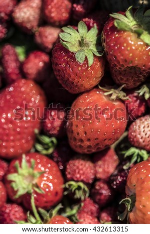 Red strawberries group