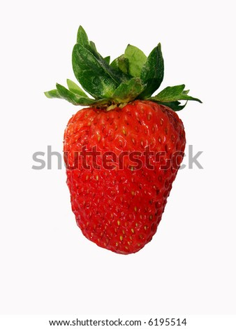 Red strawberry. Isolated over white background