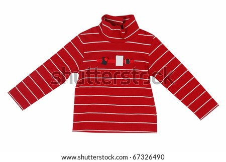 red striped sweater - stock photo
