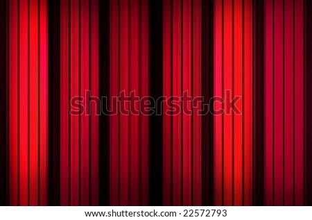 Red stripes background - stock photo