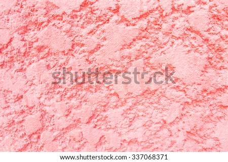 Red stucco wall wave pattern texture background