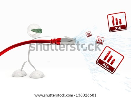 Data Cable Symbols Data Cable Stock Photo