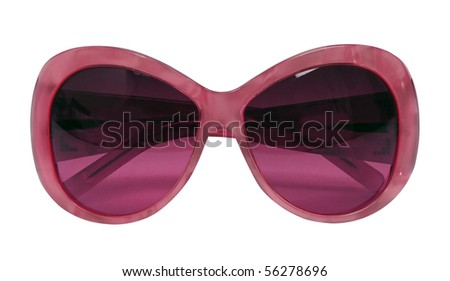 red sunglasses - stock photo