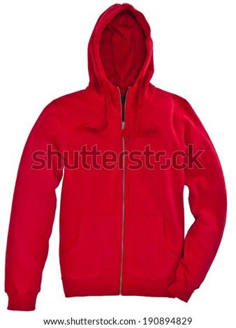 red sweatshirt isolated - stock photo