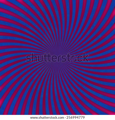 Red swirl on blue background pattern