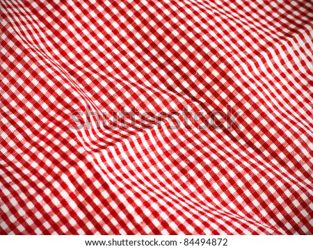 red table cloth background - stock photo