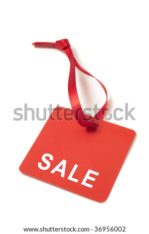 Red tag isolated on white