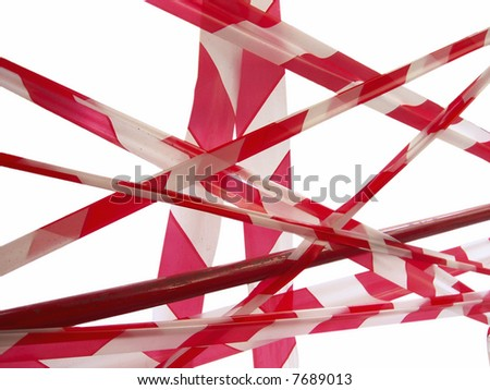 red tape - stock photo