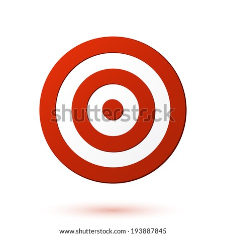 Red target icon - stock photo