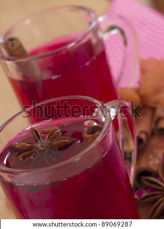 red tea with anise and cinnamon
