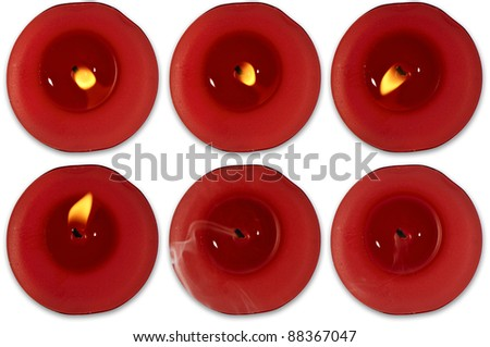 Red Tealights - stock photo