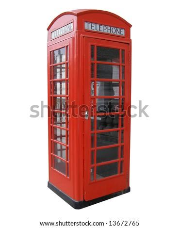 Red telephone box, London - stock photo