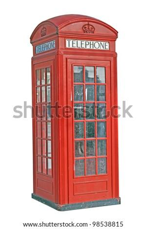 Red telephone box. London, UK - stock photo