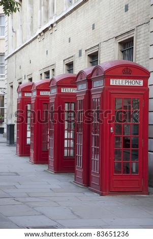 Red Telephone Boxes near Covent Garden, London, England, UK