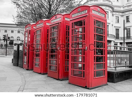 Red Telephone Boxes, Westminster,  London, United Kingdom
