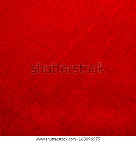 Red texture and details, terry cloth bath towel textile background