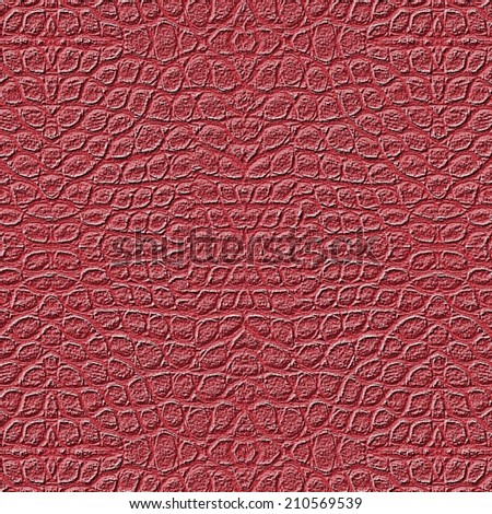 red textured background based  on snake skin - stock photo