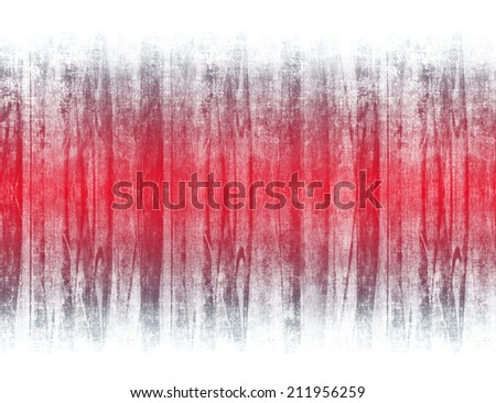Red textured grungy stripe on the white background. - stock photo
