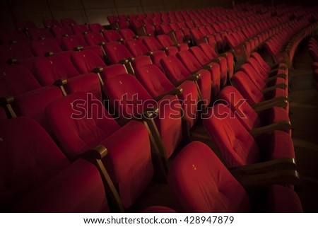 red theater chairs - Movie Theater Chairs