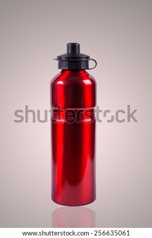 Red thermos - stock photo