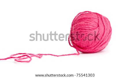 red thread clew isolated - stock photo