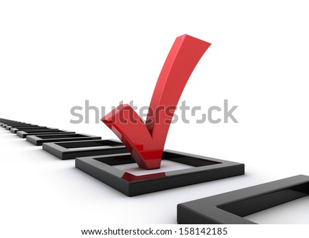 red tick - stock photo