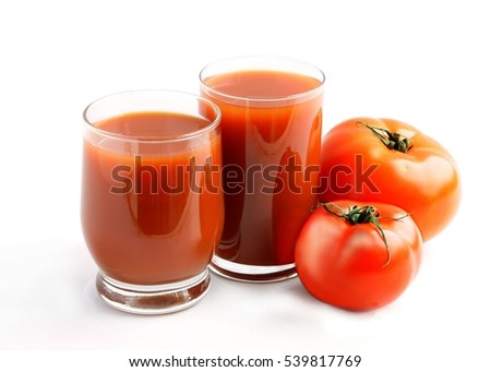 red tomato and juice