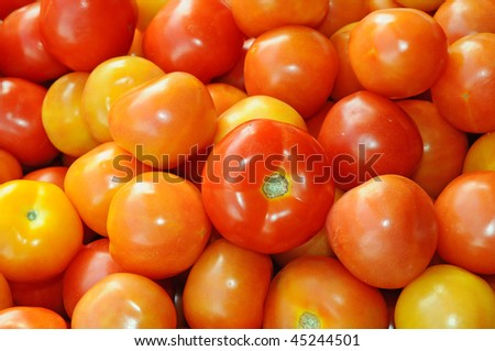 Red Tomatoes At A Market Stall