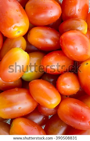Red tomatoes background