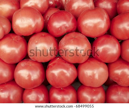 red tomatoes closeup, background