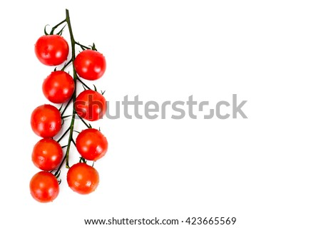 Red Tomatoes Isolated on a White Background Studio Photo - stock photo