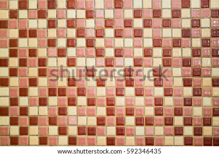 Red Tone Mosaic Background