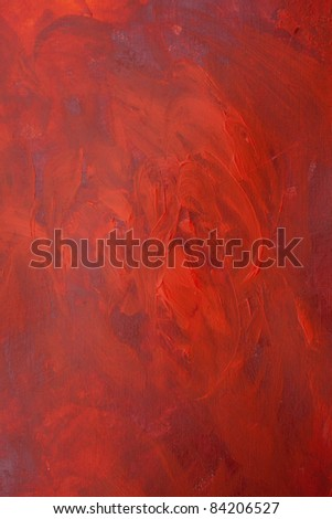 Red Tones Abstract Expressionist Acrylic Background Painting