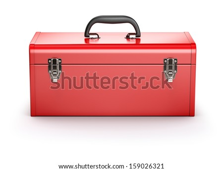 Red toolbox  - stock photo