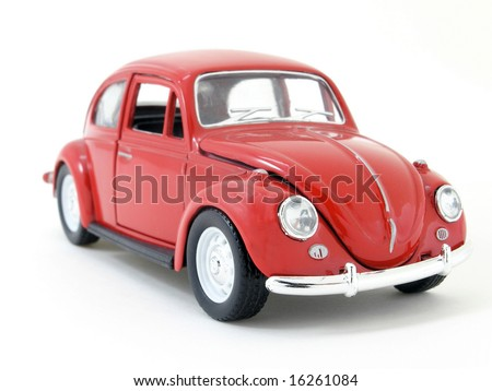 red toy car - stock photo