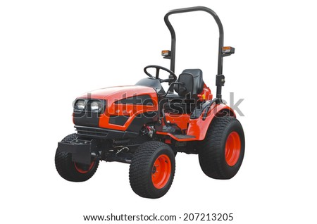 Red  tractor - stock photo