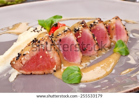 Red tuna - stock photo