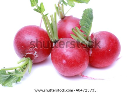 Red turnip on a white background - stock photo