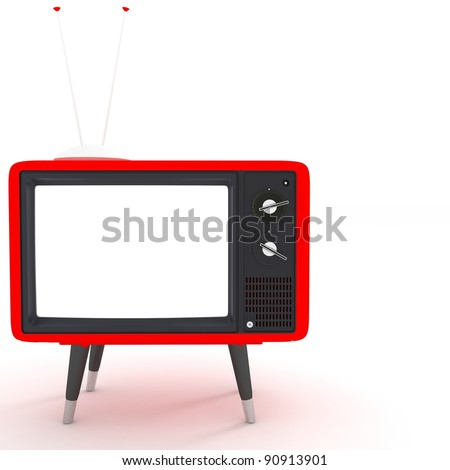 red TV - stock photo