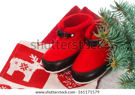red uggs - stock photo