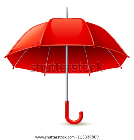 Red umbrella - raster version - stock photo