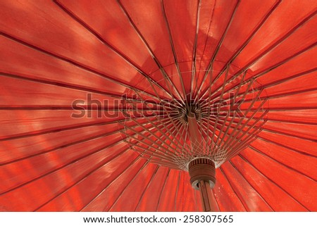 Red umbrella structure
