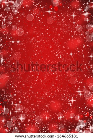 red unfocussed lights background. abstract bokeh lights - stock photo