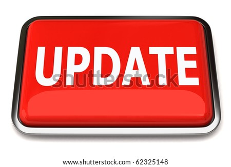 Red update button - stock photo