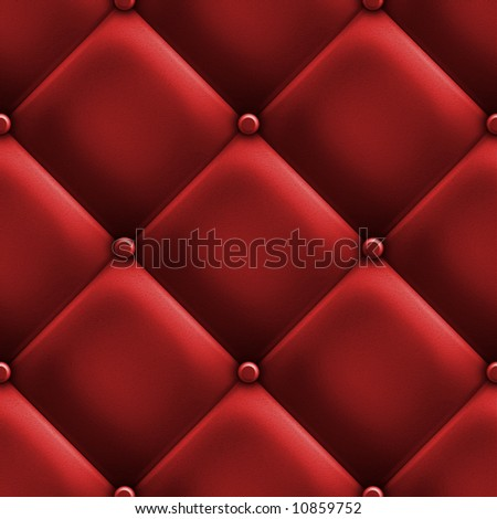 red upholstery - stock photo