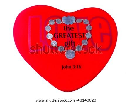 Red Valentine Heart - stock photo