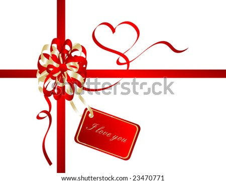 red valentine ribbon
