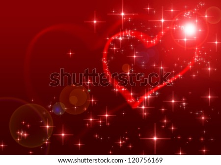 Red valentines day background - stock photo