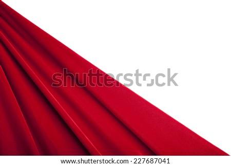 Red Velvet Background Isolated on White - stock photo